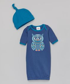 Look at this #zulilyfind! nktoo by Nohi Kids Navy Owl Gown & Teal Single-Knot Beanie - Infant by nktoo by Nohi Kids #zulilyfinds