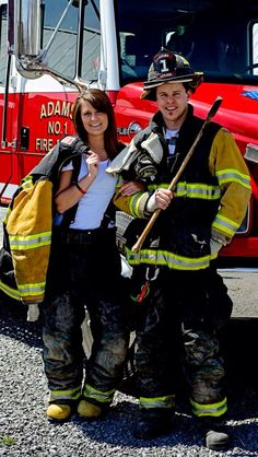 Firefighter couple!