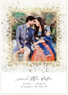 Save the Date Cards - Gilded Shimmer Save The Date Photos, Save The Date Cards, Card Sizes, Photo Cards, Wedding Inspiration, Dating, Change, Couple Photos, Couple Shots
