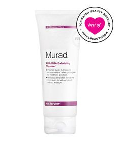Best Face Scrub No. 10: Murad AHA/BHA Exfoliating Cleanser, $36  Use in combination with Anti-Aging Anti-Acne Cleanser...works wonderfully