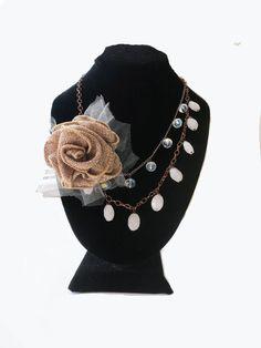 Bride Necklace Weddings Jewelry Fall Bride Chunky Bridal by sukran, $45.00
