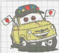 Crochet Car, Disney Cross Stitch Patterns, Disney Cars, Plastic Canvas, Perler Beads, Cross Stitch Embroidery, Purses And Bags, Needlework, Embroidery