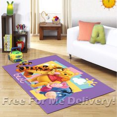 KIDS EXPRESS WINNIE POOH & FRIENDS FLOOR RUG (XS)100x150cm **FREE DELIVERY**