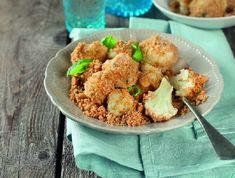 Zöldfűszeres morzsás karfiol Recept képpel - Mindmegette.hu - Receptek Quesadilla, Potato Salad, Cauliflower, Potatoes, Lunch, Chicken, Vegetables, Ethnic Recipes, Food