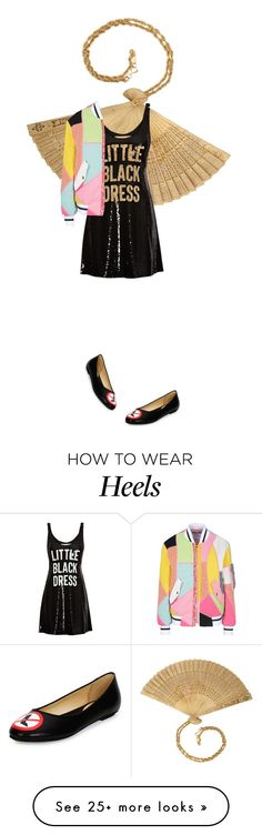 """""""? little black dress and no heels flats with bomber jacket and gold MOSCHINO"""" by kohlanndesigns on Polyvore featuring Moschino, women's clothing, women's fashion, women, female, woman, misses, juniors, LBD and fashionset"""