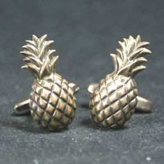 Brass Pineapple Cufflinks Free Gift Bag by Cufflinked on Etsy https://www.etsy.com/uk/listing/266235100/brass-pineapple-cufflinks-free-gift-bag