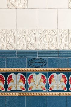 Art Nouveau, Art Deco, Art Tiles, Pattern Design, Landscapes, Lisa, Ornament, Arts And Crafts, Ceramics
