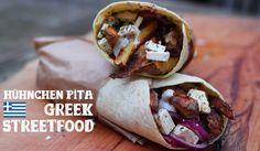 Griechisches Streetfood: Hühnchen Pita mit Pommes