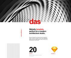 Das - Architecture (template) on Behance Template Web, Email Templates, Website Template, Red Color Schemes, High Touch, Typography Layout, Portfolio Layout, Business Presentation, Web Design Inspiration