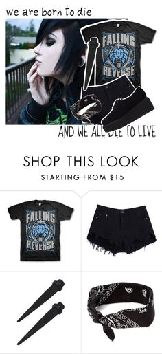 """Falling In Reverse~ Alone"" by angel121980 ❤ liked on Polyvore featuring claire's and Karl Lagerfeld"