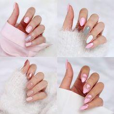 Jak widać lubię róż na paznokciach  Małe podsumowanie ostatnich prac  1,2,3 czy 4 ? Które wybieracie?  P.S Ale miałam opalone palce w lecie  #nails #nailswag #nails2inspire #inspo #manicure #mani #pink #nail #nailart #nailsdone #nailstagram #nailpolish #semilac #hybrid #knit @hudabeauty