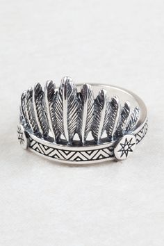 Love this Indian headdress ring.