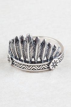 Indian Headdress Ring.