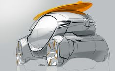 City car on Behance