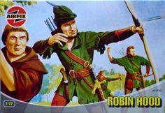 Nottingham's favourite outlaw as Airfix figures.