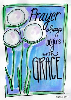 Items similar to Bible Verse Prayer Always Begins with Grace Watercolor Illustrated Print on Etsy Scripture Art, Bible Art, Bible Quotes, Scripture Images, Art Journal Pages, Bible Journal, Verses For Cards, Bible Stories, Prayers