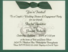 Image Detail For S Wedding Shower Invitation Wording Cathy Helder Open House Ideas