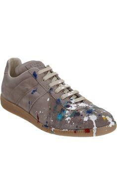 Maison Martin Margiela Paint Splatter Low Top Sneaker