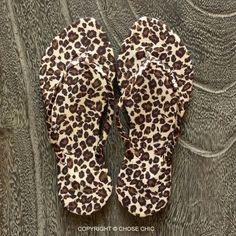 3aa16e565faa8 Chose Chic Kawaii Leopard Animal Print Flip Flops for Women Leopard Sandals