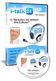 i-talk24  #E-Mails ganz einfach als Sprachnachricht oder Voicemail versenden    Mit der Voicemail-Software i-talk 24 verschicken Sie Ihre E-Mails als Sprachnachricht oder Voice E-Mail und sparen dabei locker 75 % Zeit bei Ihren E-Mails  EUR 197,-