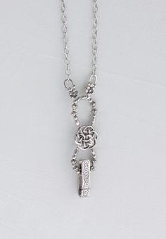 """Lilla Rose Inc - Celtic knot with all silver toned accents makes this badgeholder a favorite. Length 30"""""""