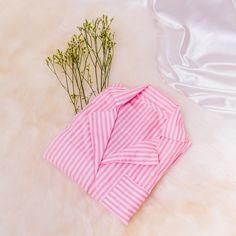 Camisola infantil listrada Pink