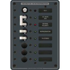 Blue Sea 8101 ELCI GFCI Panel AC 5 Position
