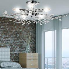 Da 15 Watt LED Soggiorno Sala Da Pranzo Copertura Lampada Luce Acrilico Foglie