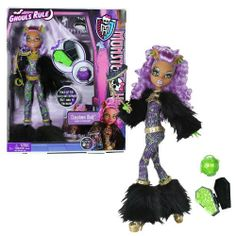 """Mattel Year 2012 Monster High """"Ghouls Rule"""" Series 12 Inch Doll Set - Clawdeen Wolf """"Daughter of The Werewolf) with Mask, Mini Coffin, Pumpkin Basket, Hairbrush and Display Stand by Mattel. $49.49. This year we wanted to pay tribute to the ghosts of Halloween Past by rocking some old school haunt couture. These are the fashions that monster and even our parents used to wear back in the night when they were still cool...the fashions not our parents. I mean our parent..."""
