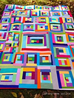 """crazy mom quilts: """"you can't rush art"""" quilt finished!"""
