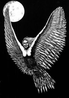 Voladora- Chilean legend: a woman who can turn into a bird. They were helpers and messengers for warlocks.