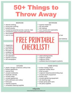 50 things to throw away today to gain control of the clutter in your home and instantly make your home more organized!