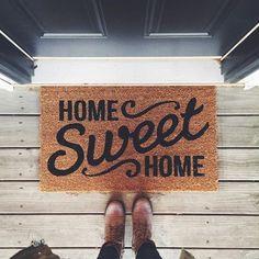 Threshold™ Home Sweet Home Doormat : Target I love this! - Threshold™ Home Sweet Home Doormat : Target I love this! Sweet Home, Inmobiliaria Ideas, Decor Ideas, Decorating Ideas, Cookie Decorating, Gift Ideas, Front Door Mats, Front Porch, Front Doors