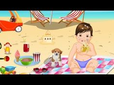 Baby Fun Picnic Bathing Game - Baby Ted's Happy Vacation By BOKGames - YouTube
