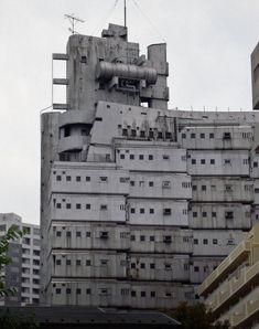 Modular Apartment Complex,Shinjuku,Tokyo, Japan, c. 1960s. Housing for the dead.