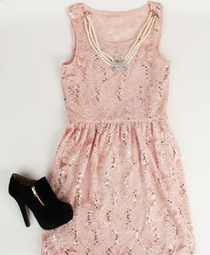 Deb Shops #lace and #sequin dress