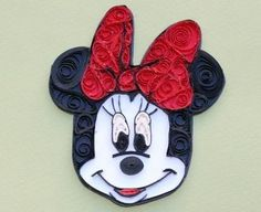 Quilled Minnie mouse