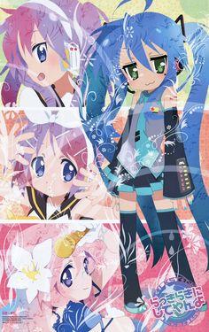 Lucky Star x Vocaloid. #luckystar #vocaloid