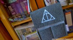 Harry Potter  hand painted bag with deathly hallows symbol  #harrypotter #diy #handmade #bag