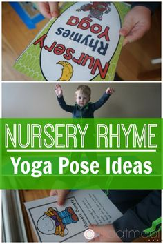 Nursery Rhyme Yoga Pose Ideas. I love the Humpty Dumpty pose ideas!