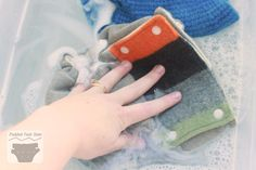 Washing wool cloth diapers tutorial - Submerge covers