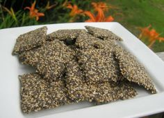 Chia-Sesame Cracker  This was my very first recipe ever posted on gone raw. It was the first recipe I made in my dehydrator, too! I still make it almost weekly. It is a sweet way to include healthy chia seeds in your raw food diet.