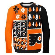 See more. NHL 2014 Hockey Logo Ugly Christmas Sweater Busy Block Style  Philadelphia Flyers Hockey Gifts 4551c1933