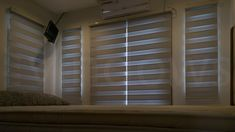 Combi, Blackout, White Light Filter, Fabric Strips, Blinds For Windows, Roller Blinds, Layers Design, Curtains, Home Decor, Shades For Windows, Blinds