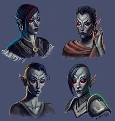 Dunmer ladies by kokomiko.deviantart.com on @deviantART