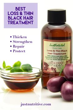 Hair loss is usually caused by tight hairstyles, chemical burns from perms and relaxers, color services, and clogged follicles from chemical laden shampoos, conditioners, and other styling products. This lightweight treatment will assist to thicken, strengthen, and help grow hair to healthy proportions within the first month of use.