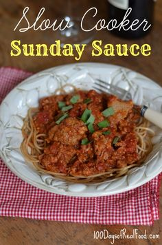 This slow cooker Sunday Sauce is a hearty, delicious crowd pleaser. There is just no other way to describe it!