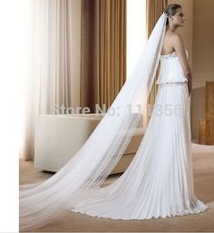 1 Layer 3M Soft Cathedral Bridal Accessories Veils Wedding Veil With Comb