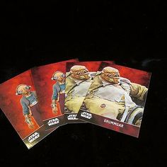 HUGE LOT STAR WARS The Force Awakens TOPPS 2015 Cards 10 MAZ KANATA 10 GRUMMGAR
