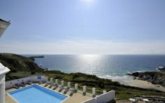 Luxury Family Hotel in Cornwall - Polurrian Bay Hotel Edwardian Hotel, Luxury Family Holidays, Cornwall Hotels, Dog Friendly Hotels, Spa Breaks, Hotel Pool, Cornwall England, Going On Holiday, Stunning View